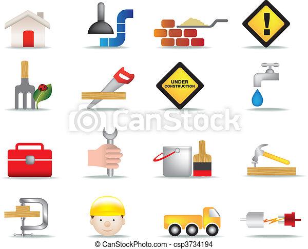 construction and diy icon set - csp3734194