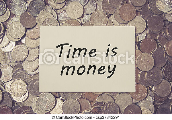 save money for investment concept coins money with filter effect retro vintage style