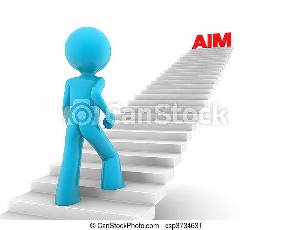 walking upstairs to aim high - csp3734631