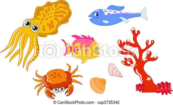 Sea creatures 2 - csp3735342