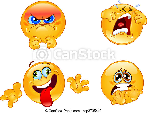 Emotions emoticons - csp3735443