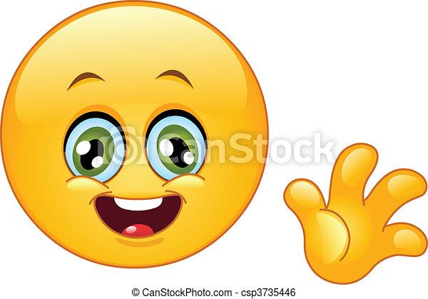 Waving Animated Emoticon Cute Emoticon Waving Hello
