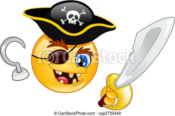 Pirate emoticon - csp3735449