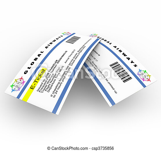 E-Tickets for Air Travel - csp3735856