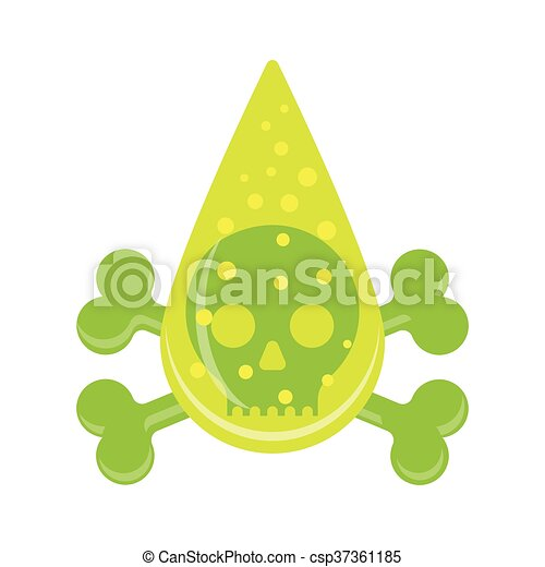 Vector of Vector sign. Drop skull. Poison symbol. - Illustration ...