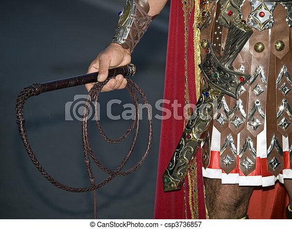 por, espada, látigo - csp3736857