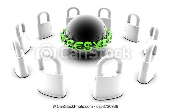Secure Financial Data - csp3736936