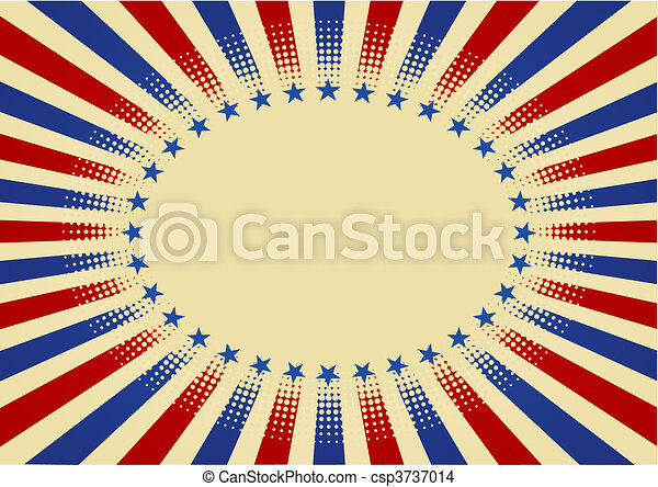 USA radial background - csp3737014