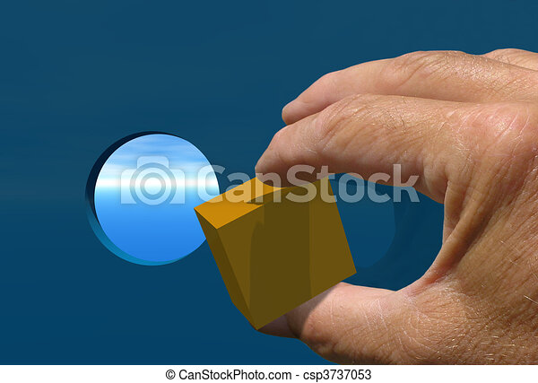 Square Peg Round Hle - csp3737053