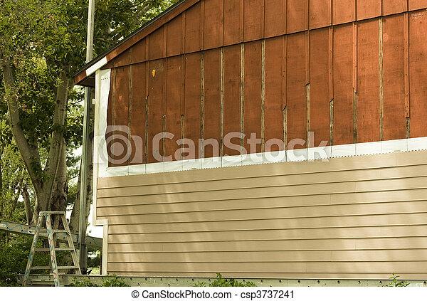 installing new siding - csp3737241