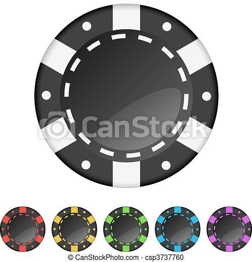 Casino gambling chips - csp3737760