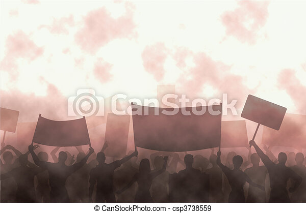 Angry protest - csp3738559