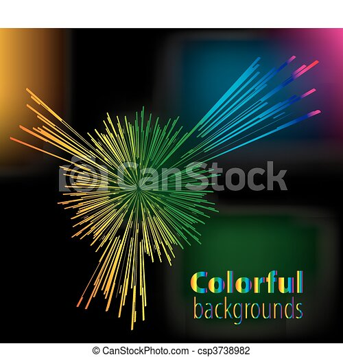Abstract colorful background - csp3738982