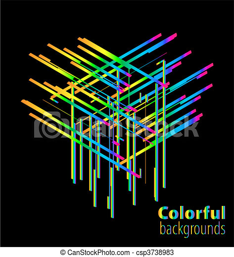 Abstract colorful background - csp3738983