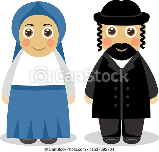 vector clipart of jewish couple people cartoon cute wifi clipart png wifi clip art black and white
