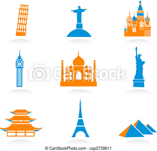 International landmark icons - csp3739611
