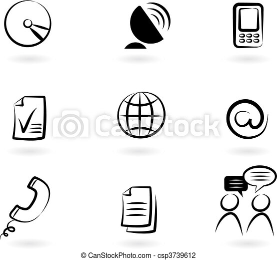 Communication icons 2 - csp3739612