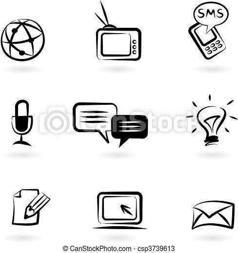 Communication icons 1 - csp3739613