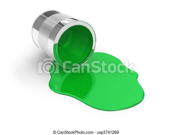 Green spilled paint - csp3741269