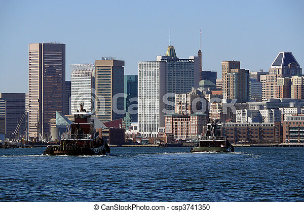 Baltimore Waterfront - csp3741350
