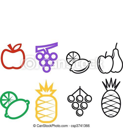 Symboler, frukt - csp3741366