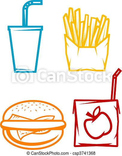 Fast food symbols - csp3741368