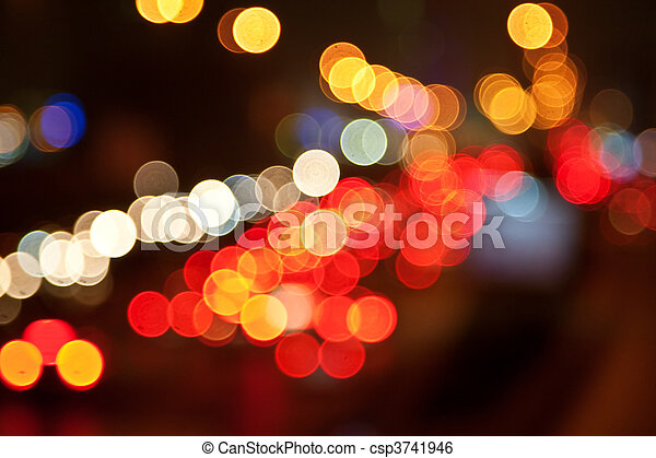 luzes cidade - csp3741946
