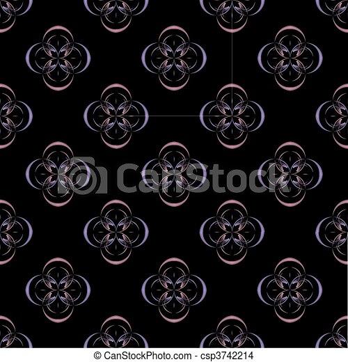 Quatrefoil Window Pattern - csp3742214