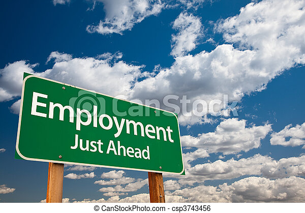 Employment Green Road Sign - csp3743456