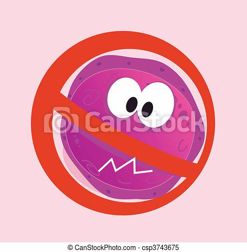 Stop virus - aids virus - csp3743675