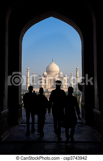 Taj Mahal South Entrance - csp3743942