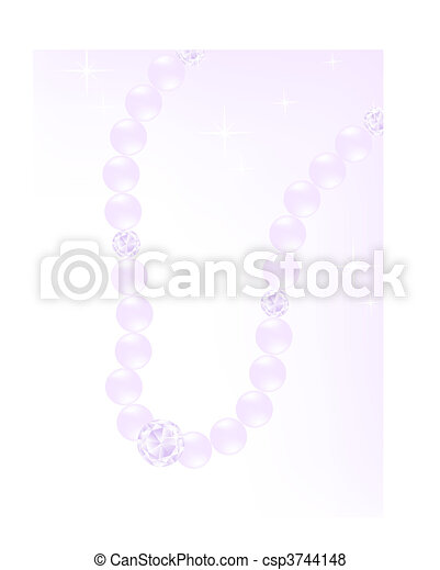 pearl necklace - csp3744148