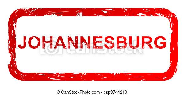 Used Johannesburg city stamp - csp3744210