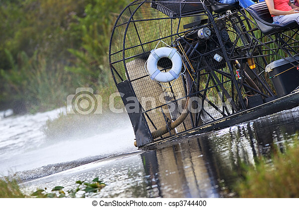 Stock Photography of Swamp Boat - An Everglades swamp boat skirts ...