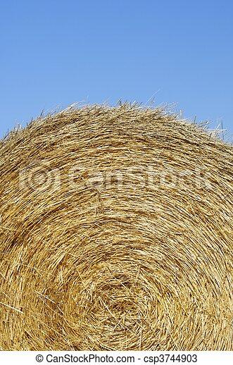 straw bale - csp3744903