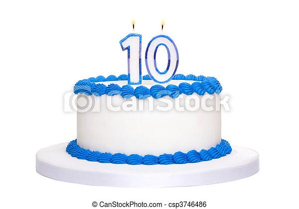 Birthday cake - csp3746486