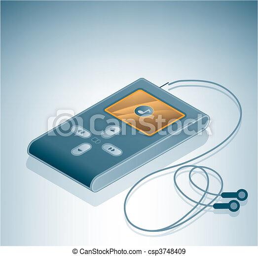MP3 Multimedia Player - csp3748409