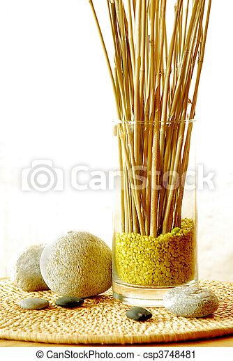 Stock photography of interior decoration with zen ambiance for Ambiance decoration