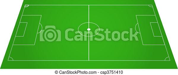 Football soccer field pitch   - csp3751410