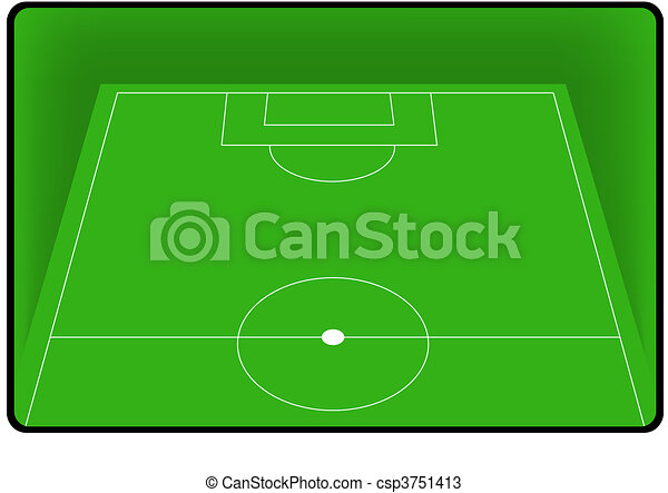 Football soccer field pitch - csp3751413