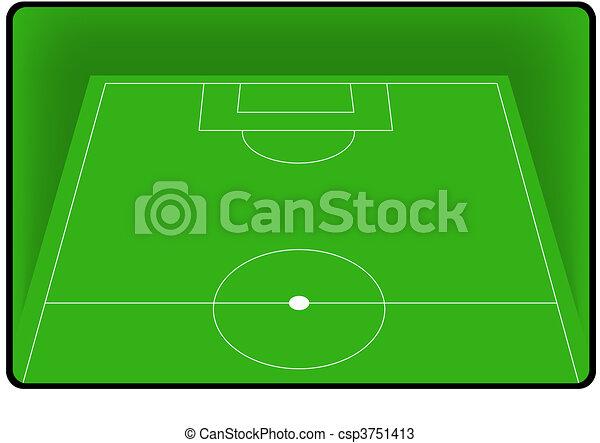 Football soccer field pitch   - csp3751413