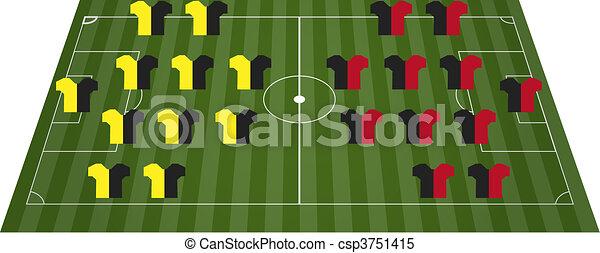 Football soccer field pitch - csp3751415