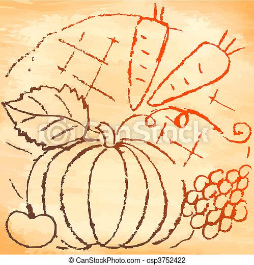 Pano with pumpkin - csp3752422
