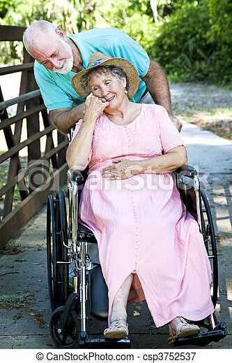 Caring for Disabled Wife - csp3752537