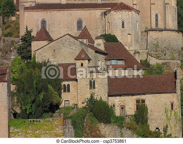 Castle, Manor, village - csp3753861