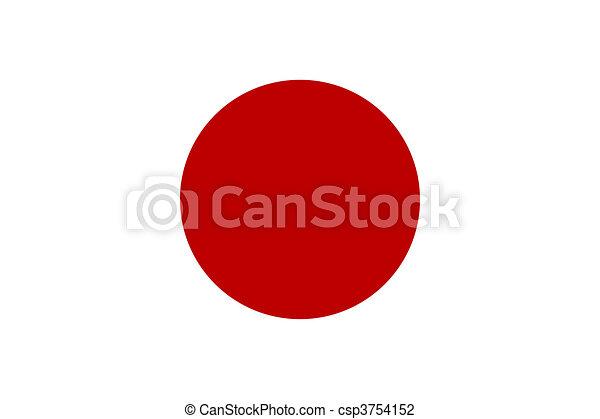 Flag of Japan - csp3754152