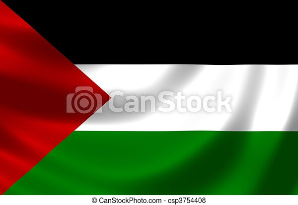 Flag of Palestine - csp3754408