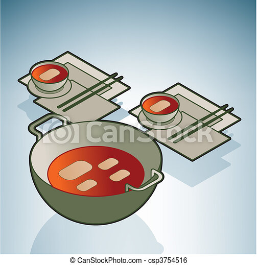 Wok & Dishes - csp3754516