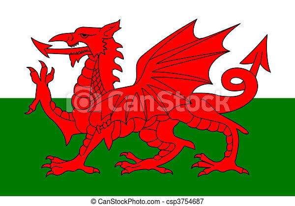 Flag of Wales - csp3754687