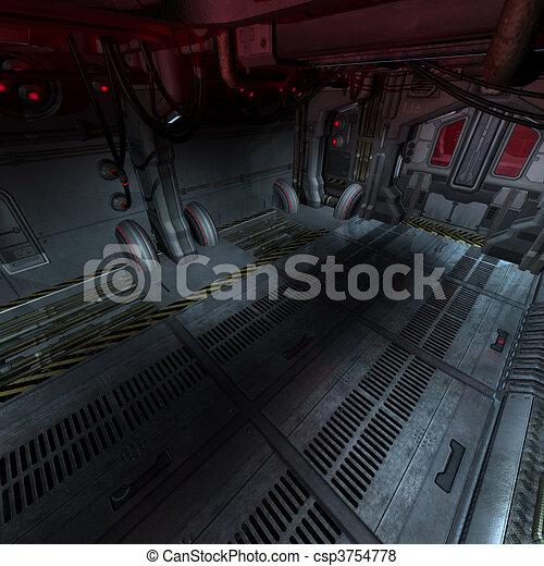 illustration de image composer int rieur ou scifi fond vaisseau csp3754778 recherchez. Black Bedroom Furniture Sets. Home Design Ideas